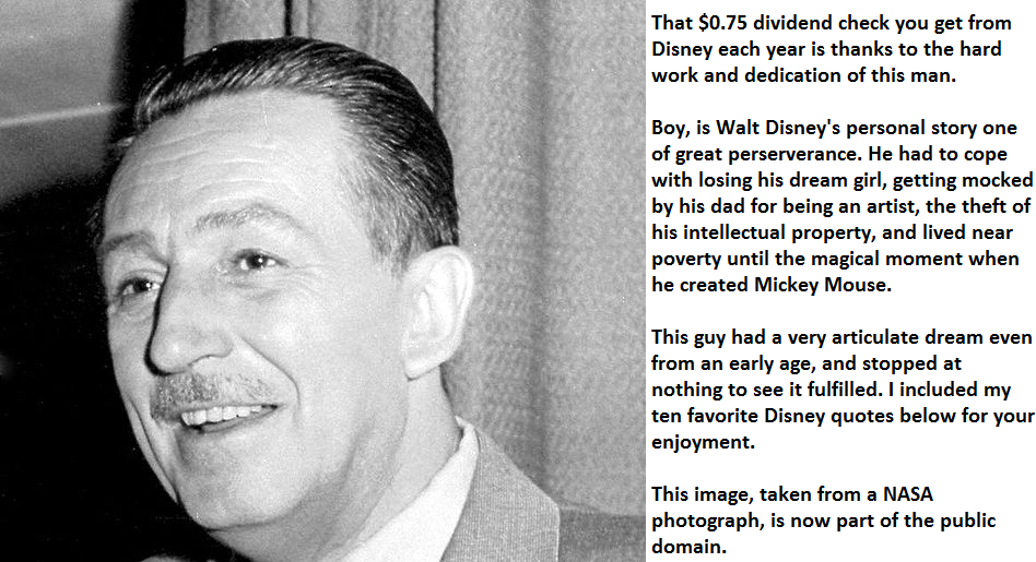 My Ten Favorite Walt Disney Quotes The Conservative Income Investor Mesmerizing Walt Disney Quotes About Life